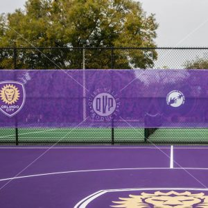 Printed Mesh for Tennis Courts